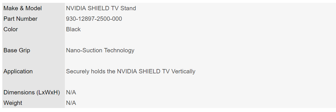 Nvidia Shield Media Player Stand