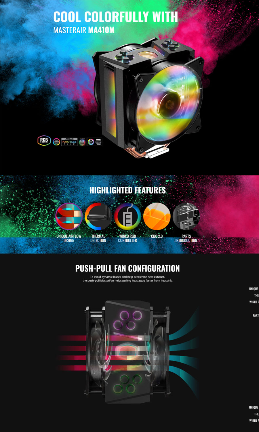 Cooler Master MasterAir MA410M Addressable RGB CPU Cooler