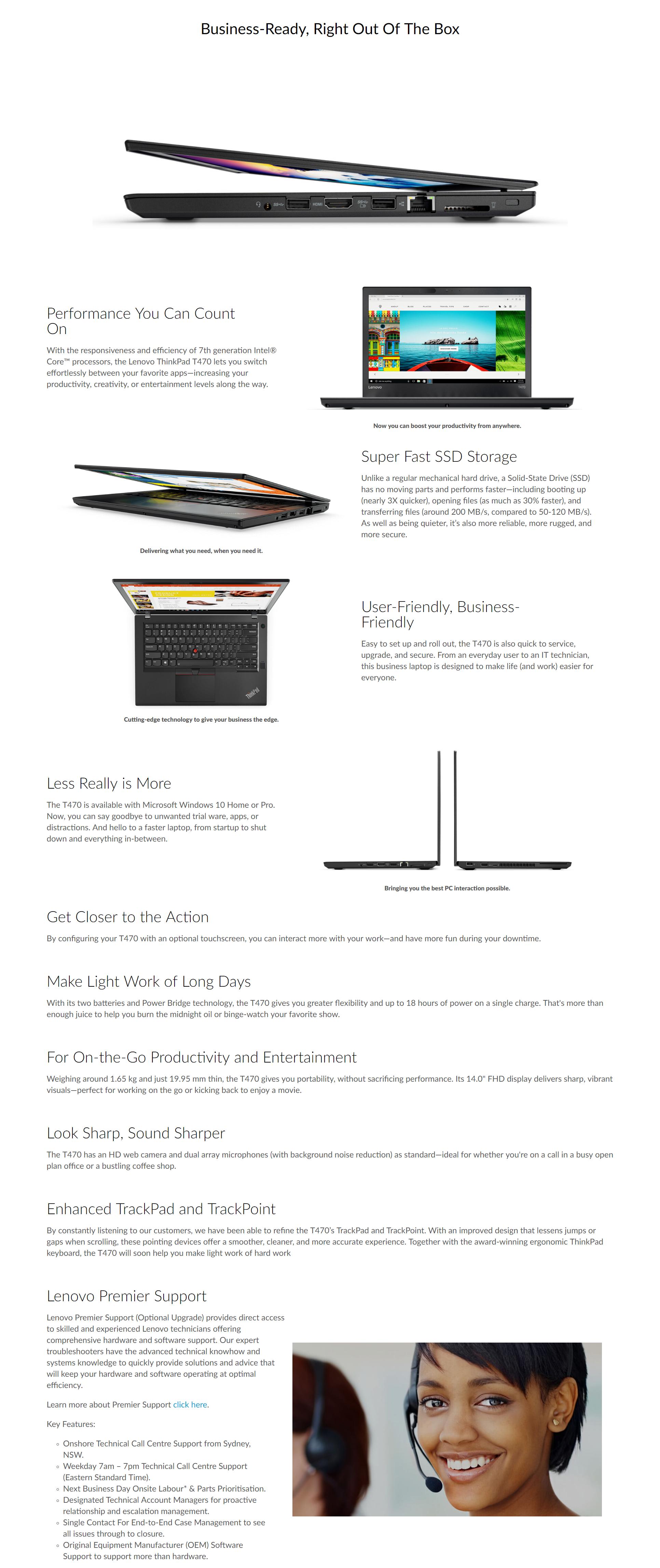 Lenovo ThinkPad T470 i7-7500U 14 0