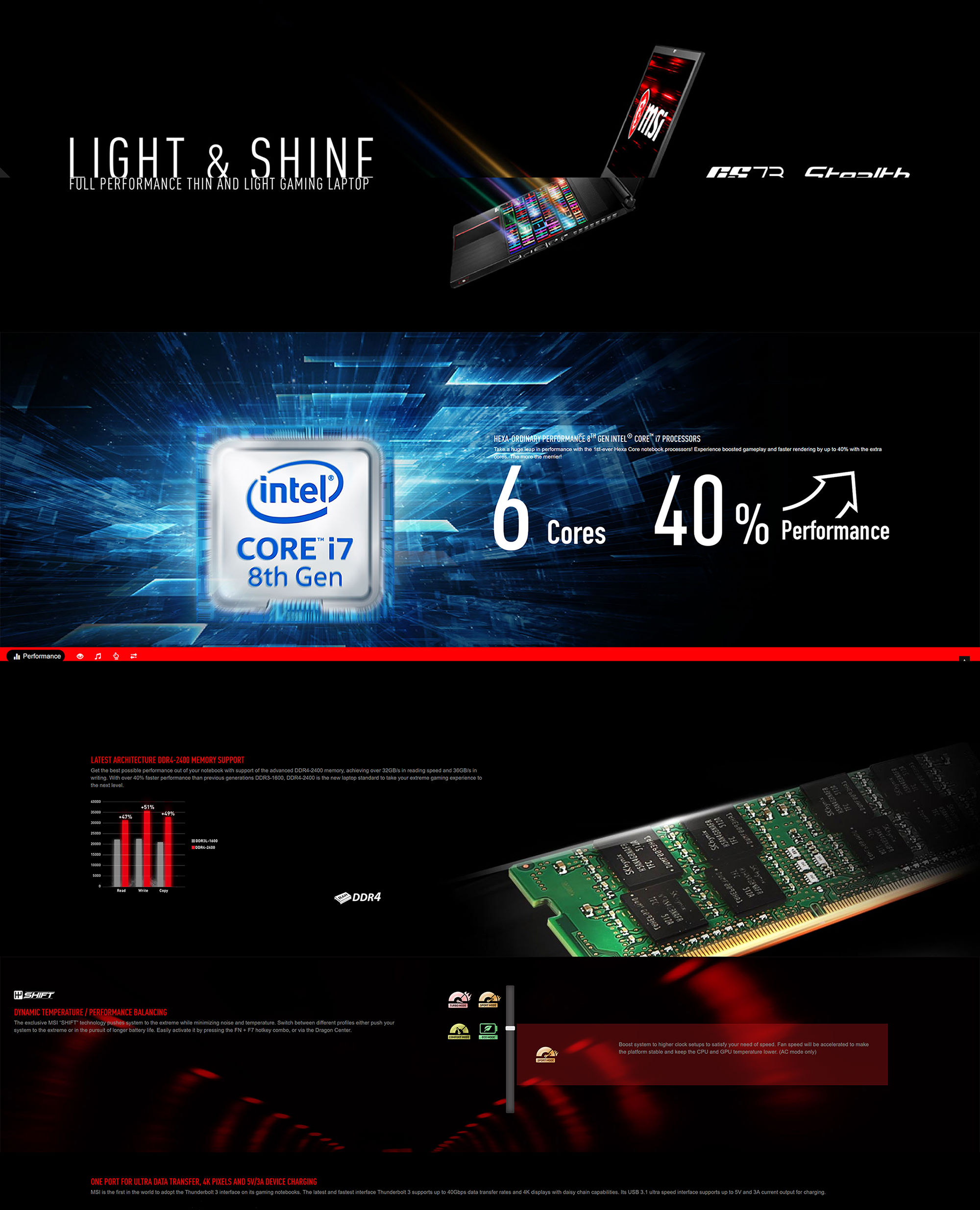 MSI GS73 17 3in FHD 120Hz i7 8750H GTX 1060 256GB SSD + 1TB HDD Gaming  Laptop (8RE-028AU)