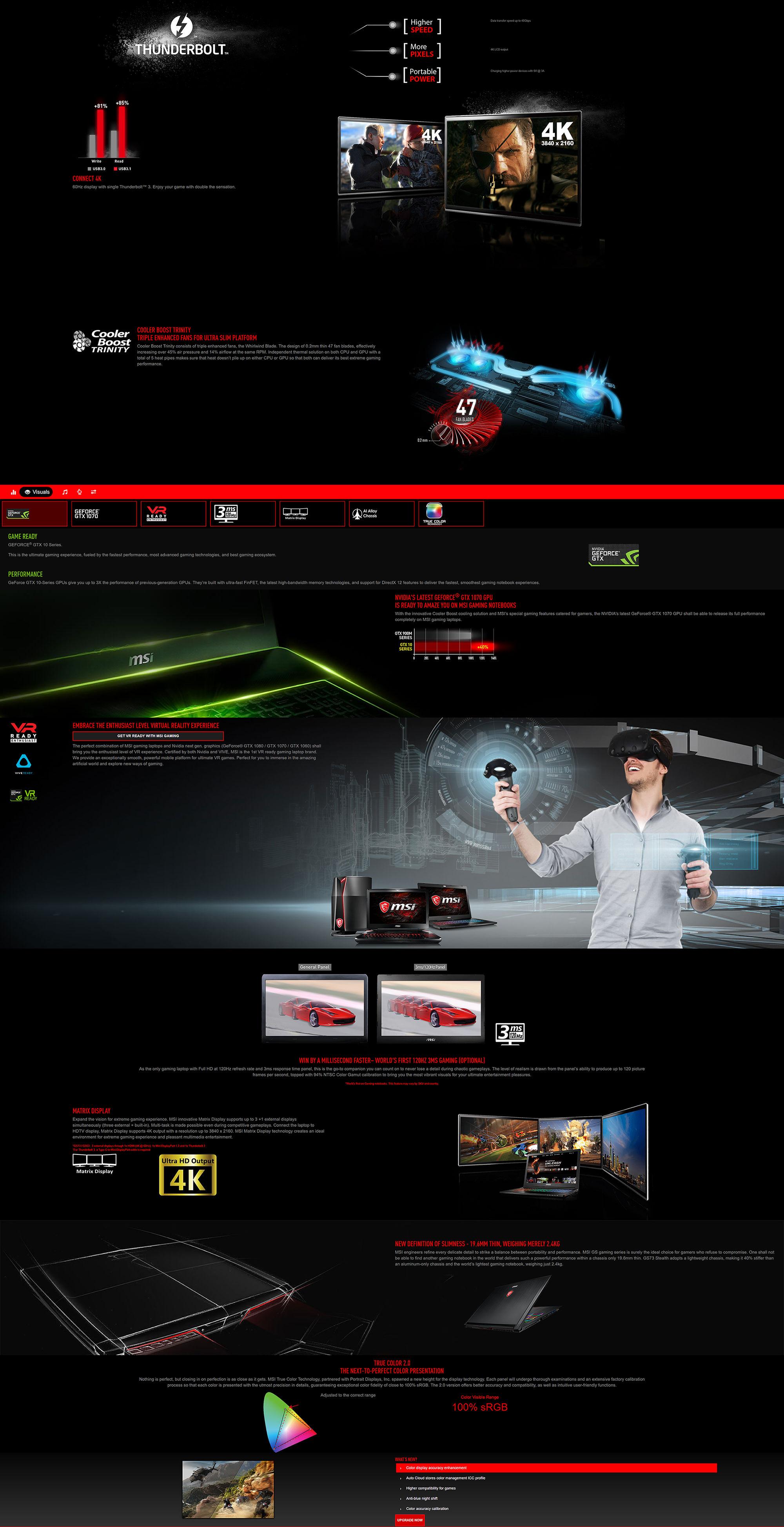 MSI GS73 17 3in FHD 120Hz i7 8750H GTX 1070 512GB SSD + 2TB HDD Gaming  Laptop (8RF-017AU)