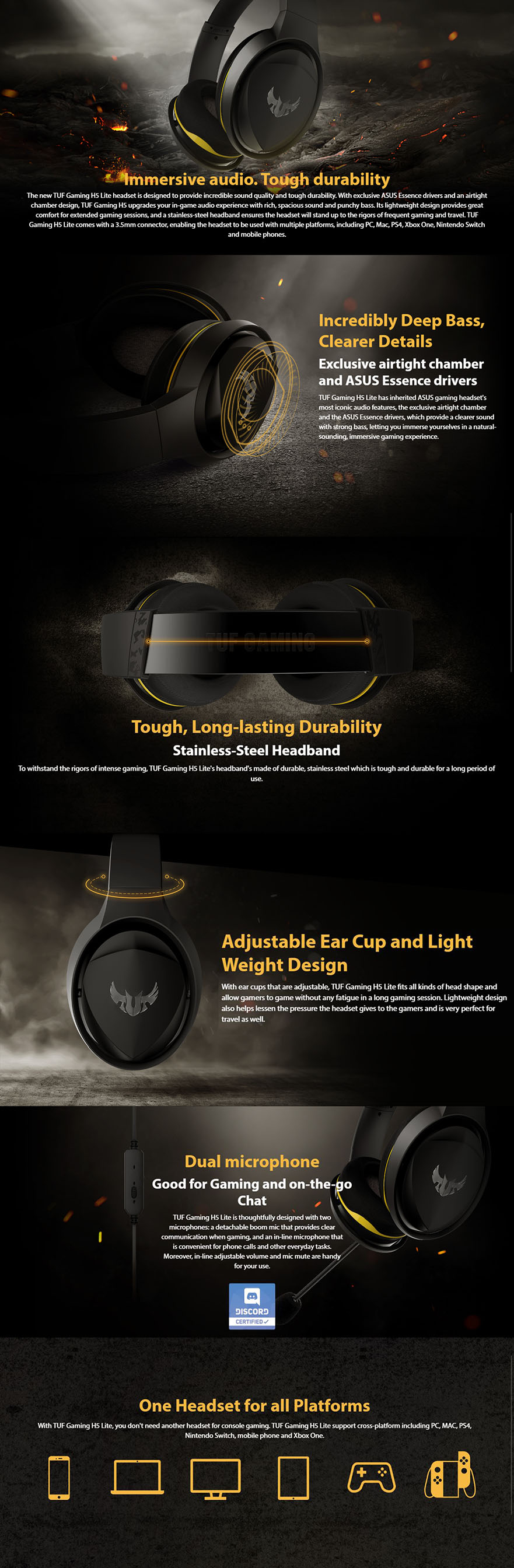 Asus TUF Gaming H5 7.1 Headset
