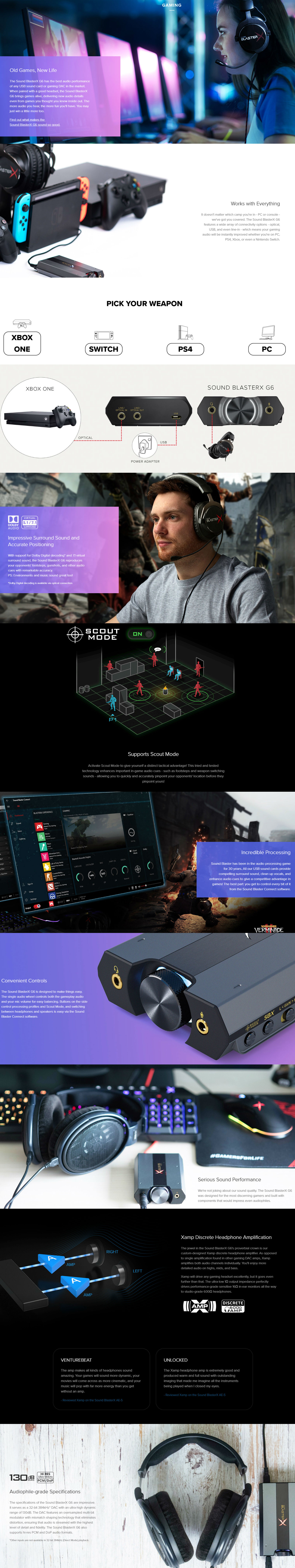 Creative Sound BlasterX G6 External Gaming Sound Card