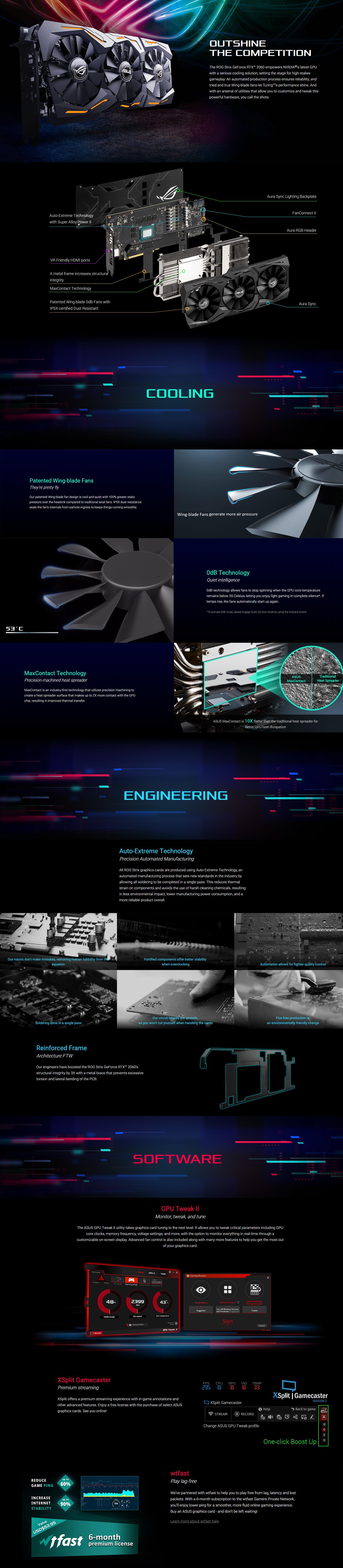 Asus GeForce RTX 2060 ROG Strix Gaming 6G OC Graphics Card