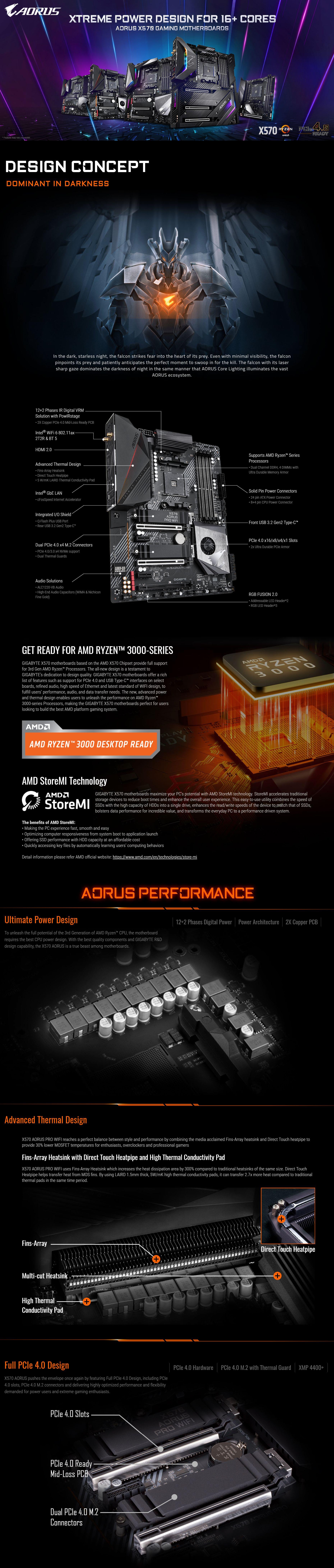 Gigabyte X570 Aorus Pro WiFi AM4 ATX Motherboard