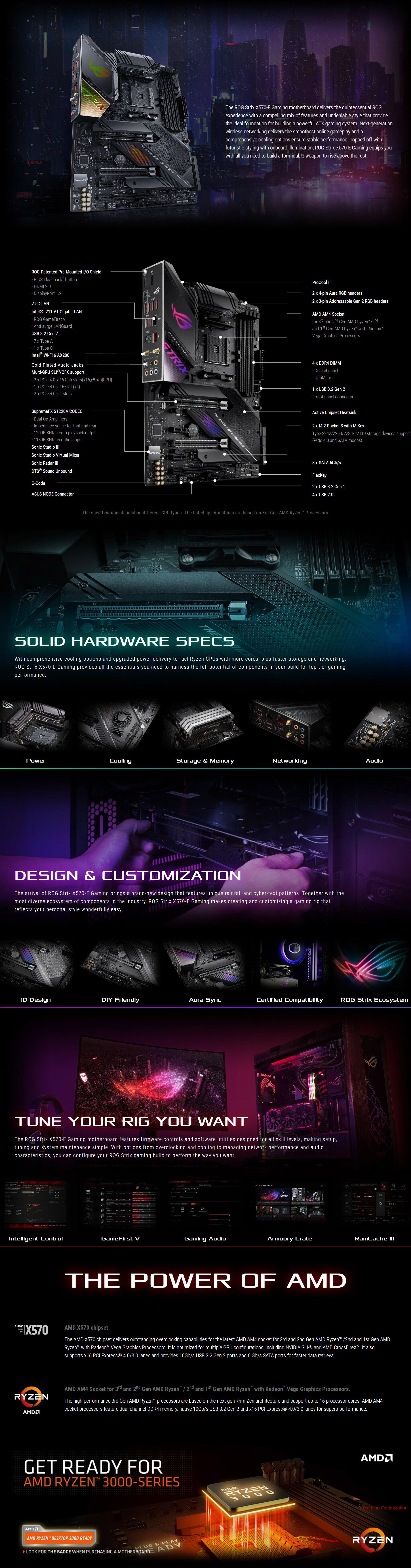 Asus ROG Strix X570-E Gaming AM4 ATX Motherboard