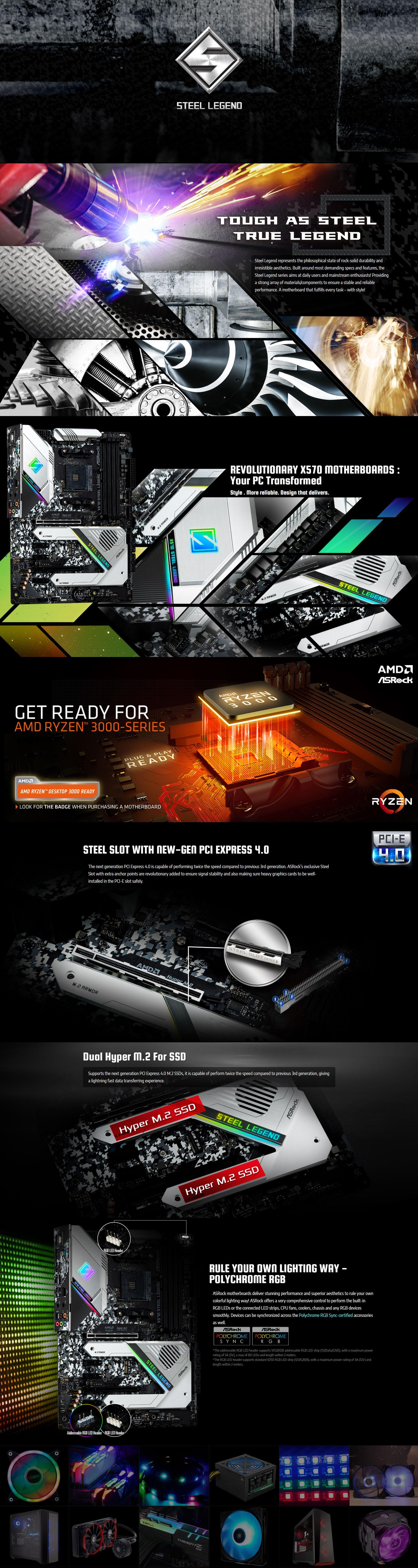 ASRock X570 Steel Legend AM4 ATX Motherboard