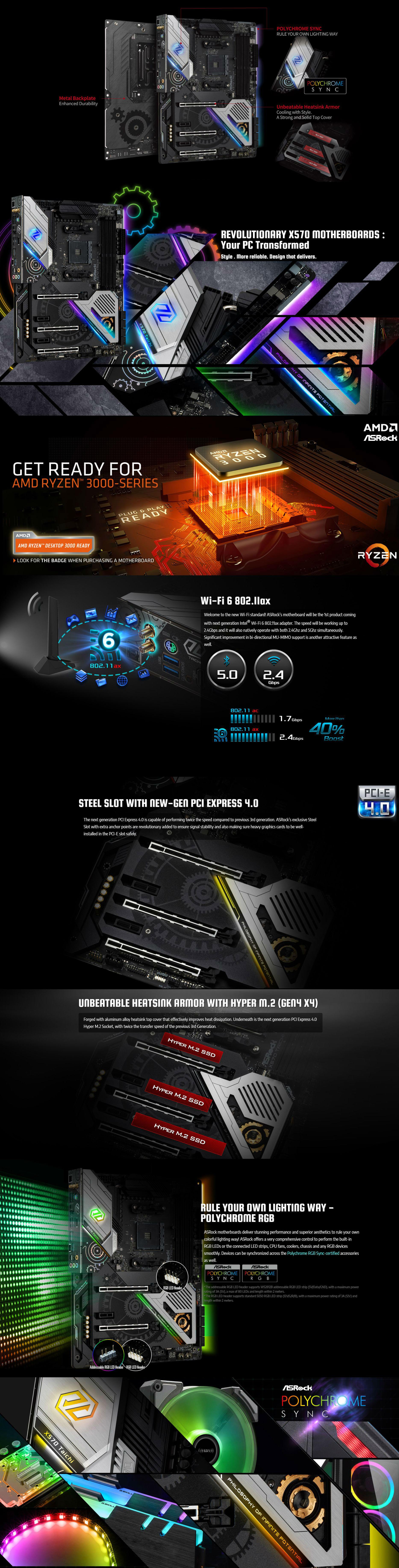 ASRock X570 Taichi AM4 ATX Motherboard