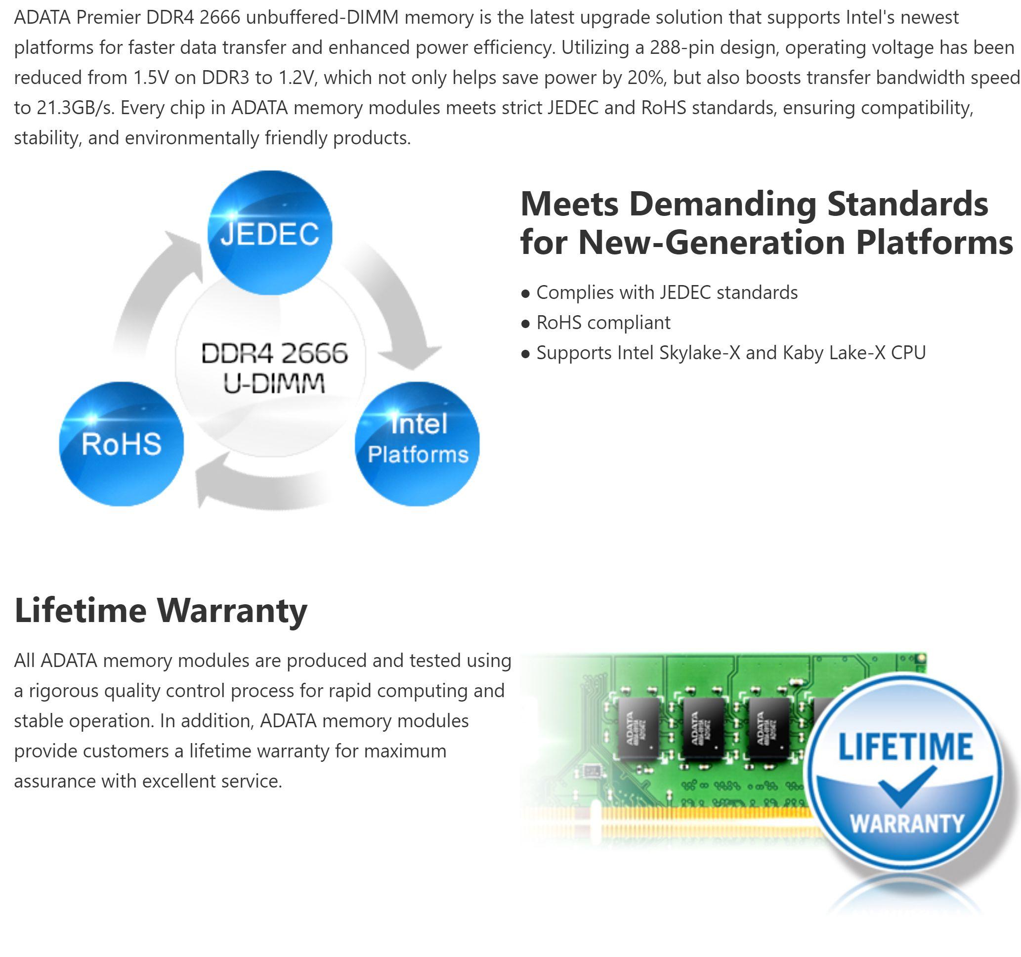 #1547 - 'Premier DDR4 2666 Unbuffered-DIMM Memory I Description I ADATA Consumer' - www_adata_com.jpg