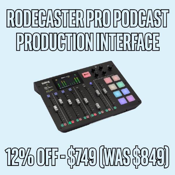 12 OFF Rode RODECaster Pro Podcast Production Interface