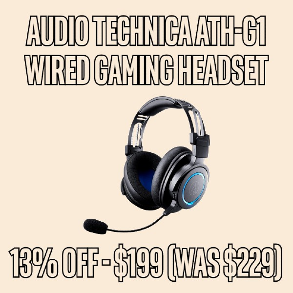 13% OFF Audio Technica ATH-G1 Wired Closed Gaming Headset