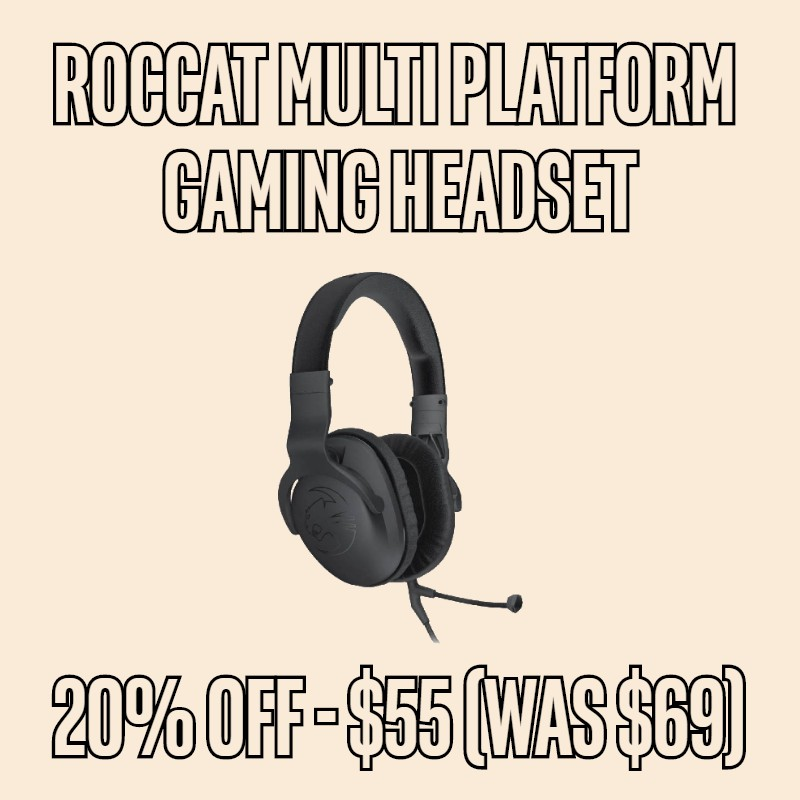 20% OFF Roccat Cross Multi Platform Over-Ear Stereo Gaming Headset