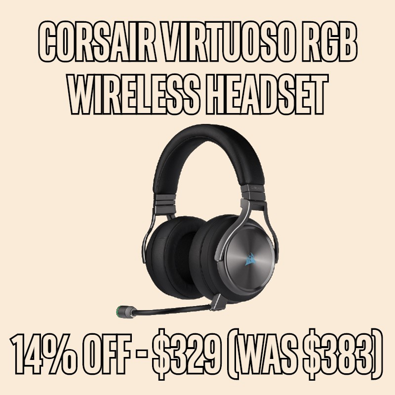 14% OFF Corsair Virtuoso RGB Wireless  Headset