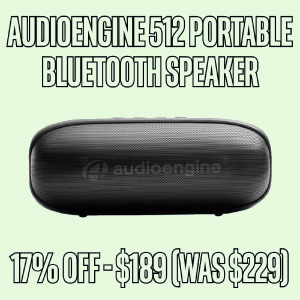 17% OFF Audioengine 512 Portable Bluetooth Speaker - Black