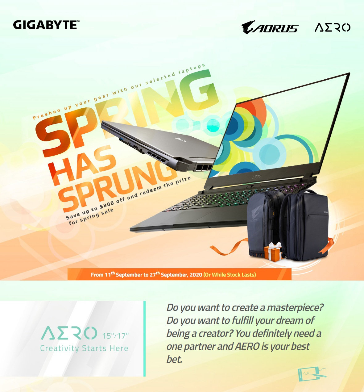 Save up to $800 on select Gigabyte Laptops
