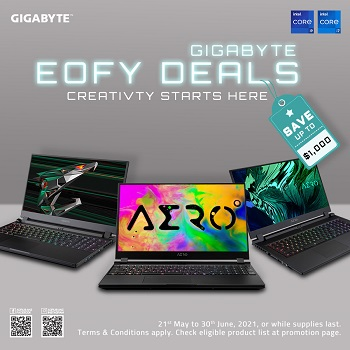 Up To $1000 Off RRP on Select Gigabyte Laptops!