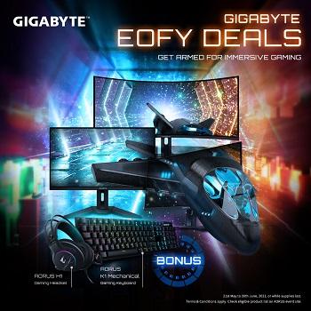 Buy GIGABYTE Selected Monitor Bonus AORUS K1 Keyboard or AORUS H1 Headset!