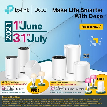 Bonus Smart Bulbs When You Buy Select TP-Link products!
