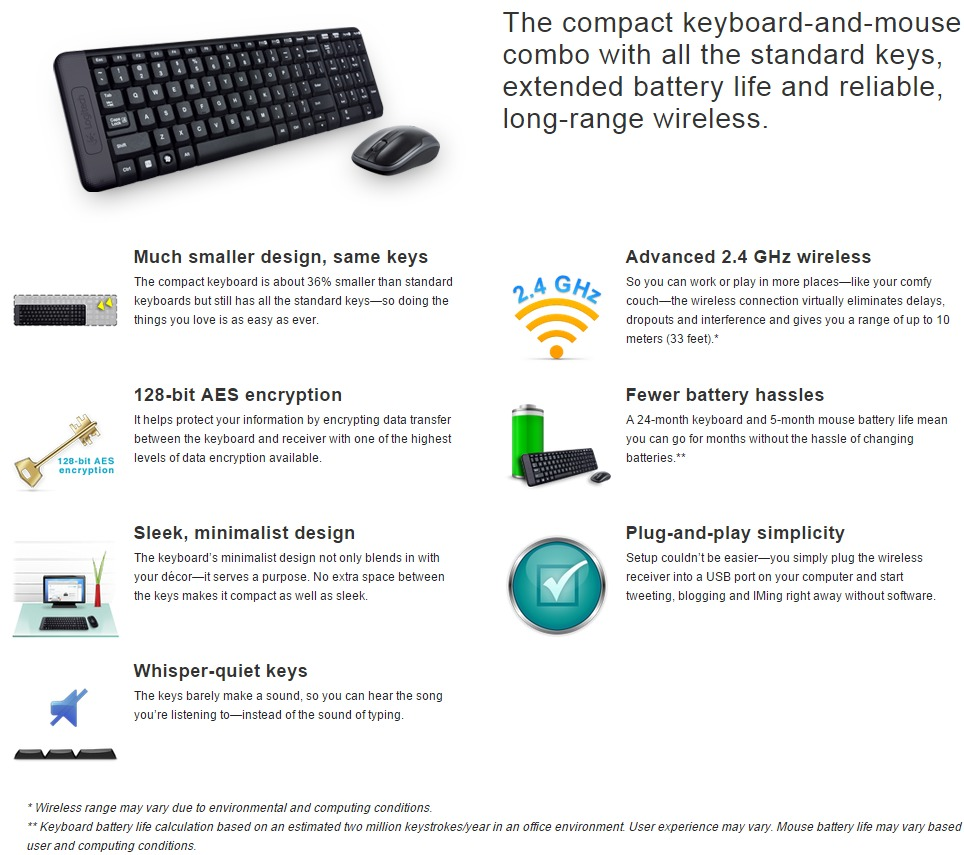 Logitech Mk220 Wireless Combo Keyboard Mouse Umart Com Au