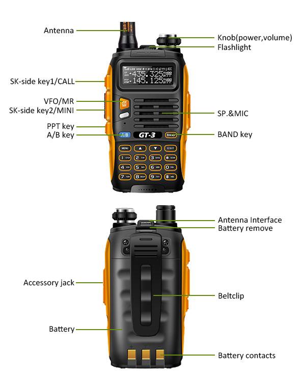 Baofeng Pofung GT 3 MARK II Transceiver Orange Black Two Way Radio