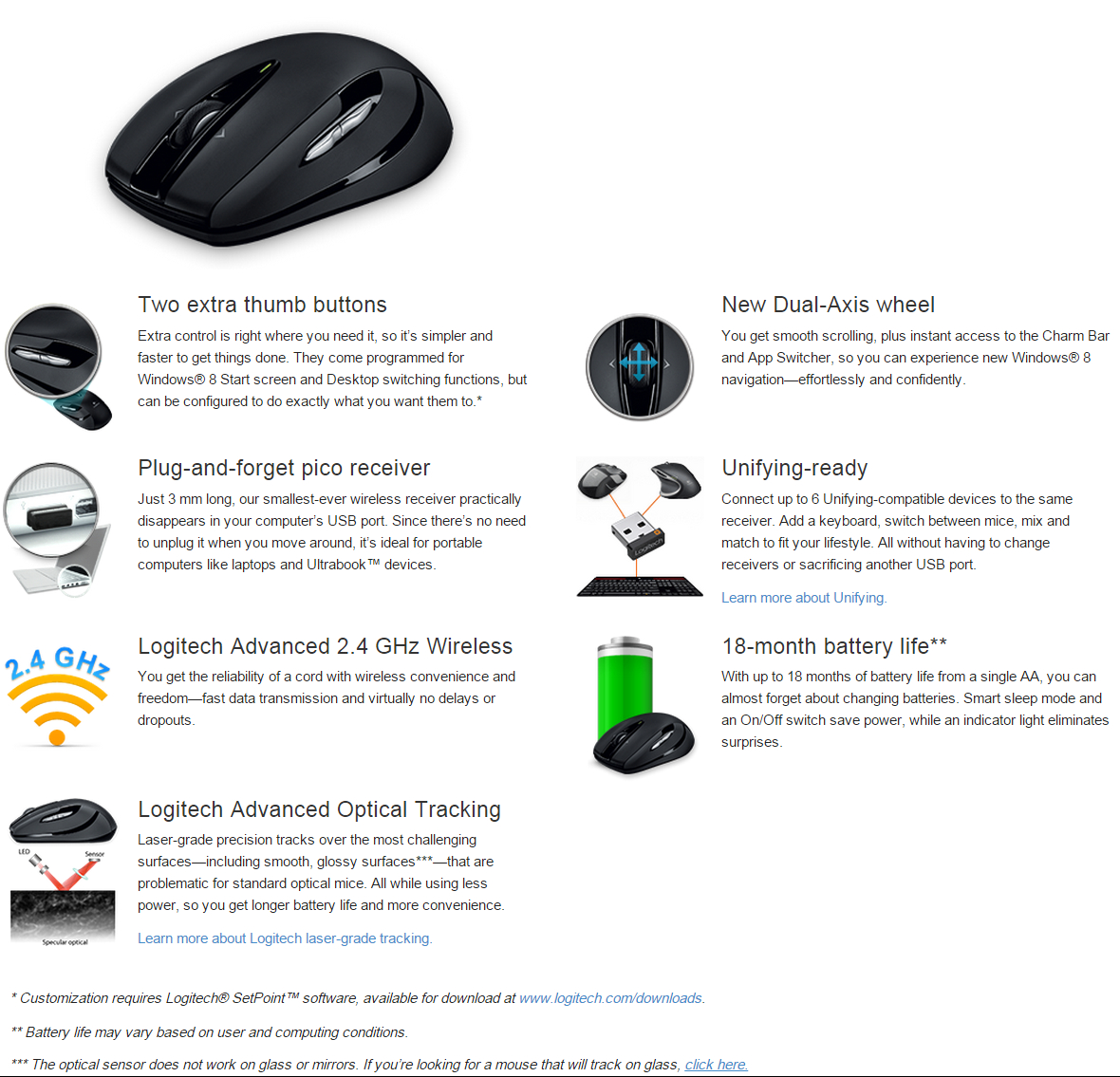 Logitech M545 Wireless Mouse Black