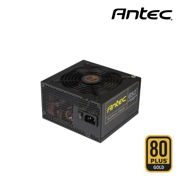 Antec 650W True Power Classic  80Plus Gold  Up to 92% Efficiency, 2x High  current +12V Rail
