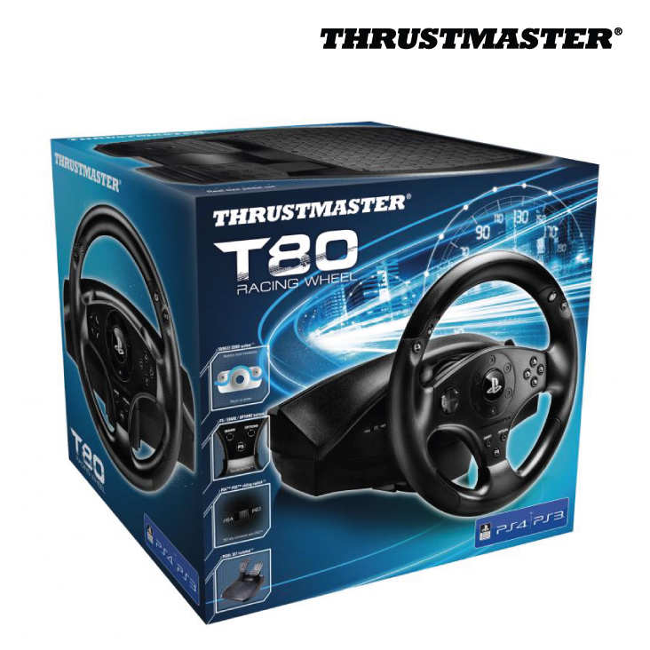 Thrustmaster T80 Racing Wheel For PS3 & PS4 - Umart.com.au