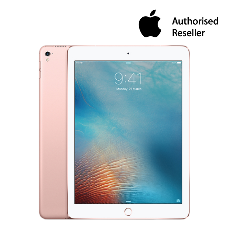 apple 9 7 inch ipad pro wi fi cellular 128gb rose gold. Black Bedroom Furniture Sets. Home Design Ideas