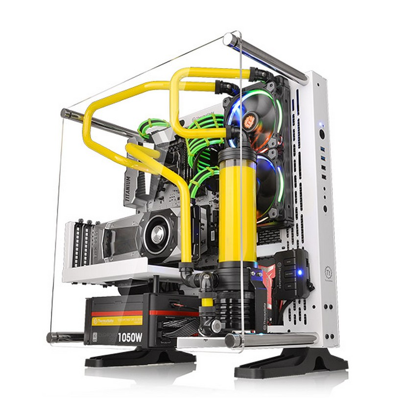 Thermaltake Core P3 Snow Edition Wall Mount Open Frame ATX Case ...