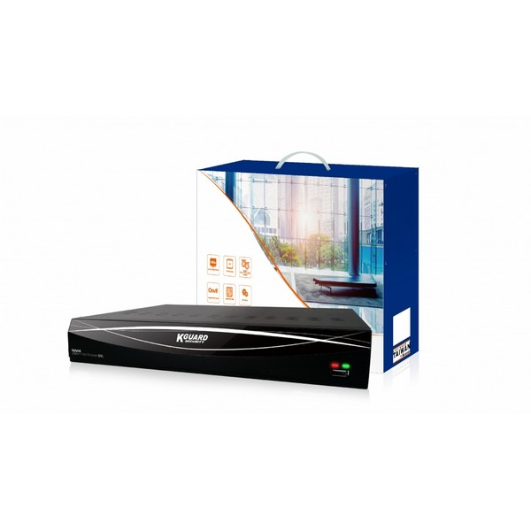 KGUARD HD481 4-CH Hybrid DVR with QR Code Setup (Without HDD)