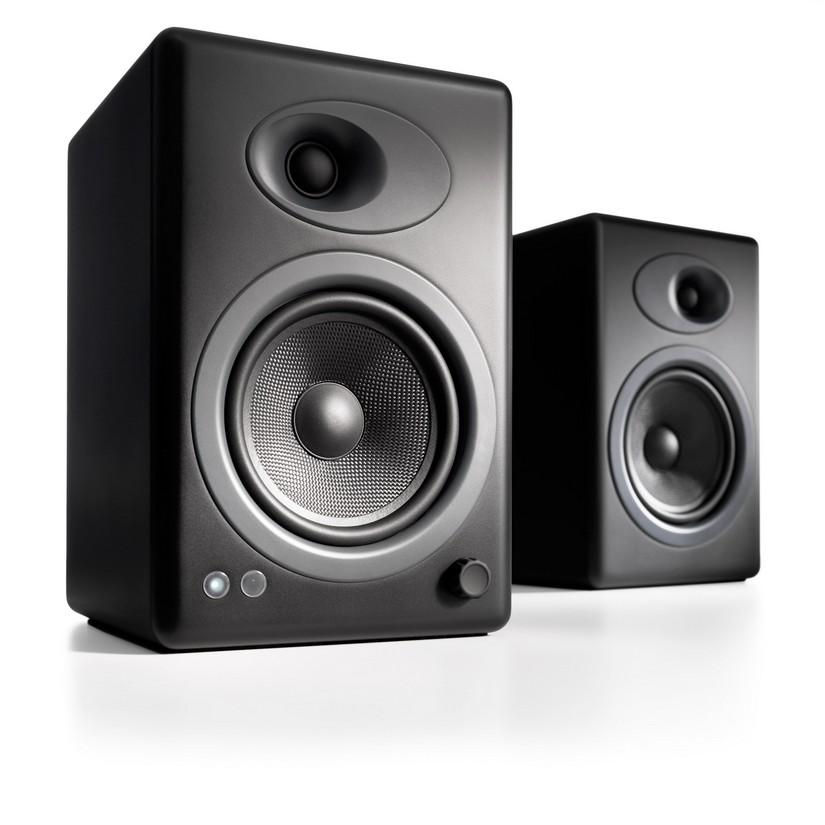Audioengine 5 Powered Bookshelf Speakers Pair Satin Black