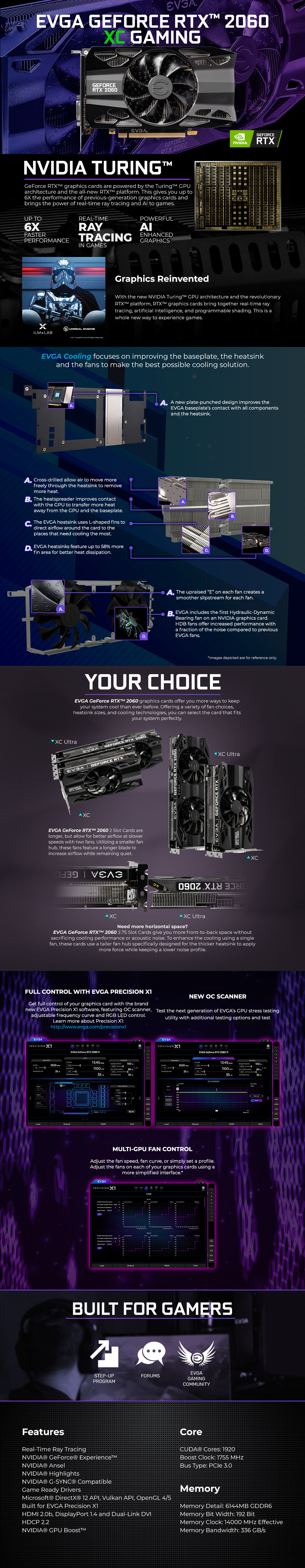 EVGA GeForce RTX 2060 XC Gaming 6G Graphics Card