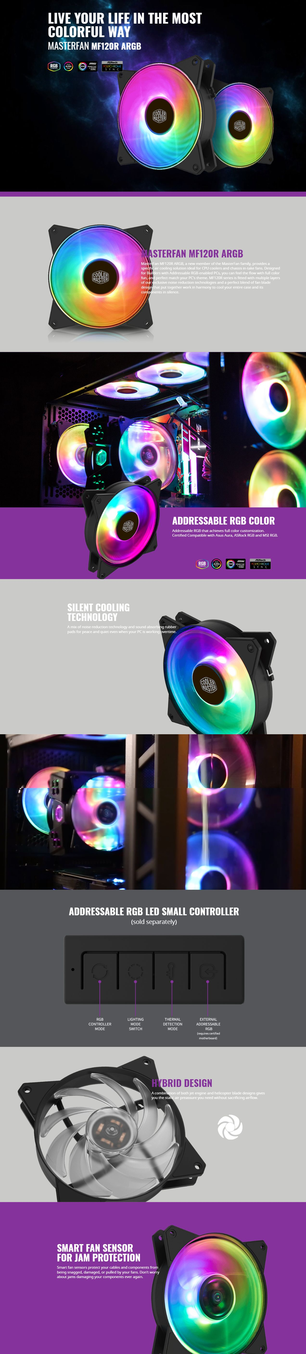 Cooler Master MasterFan 120mm MF120R Addressable RGB Fan