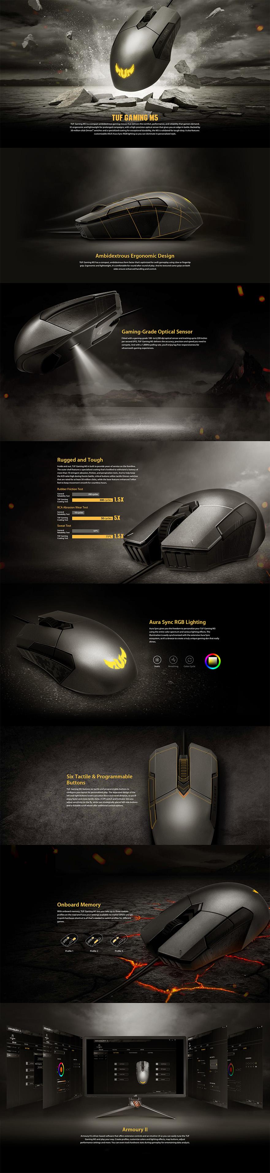 Asus TUF Gaming M5 RGB Mouse