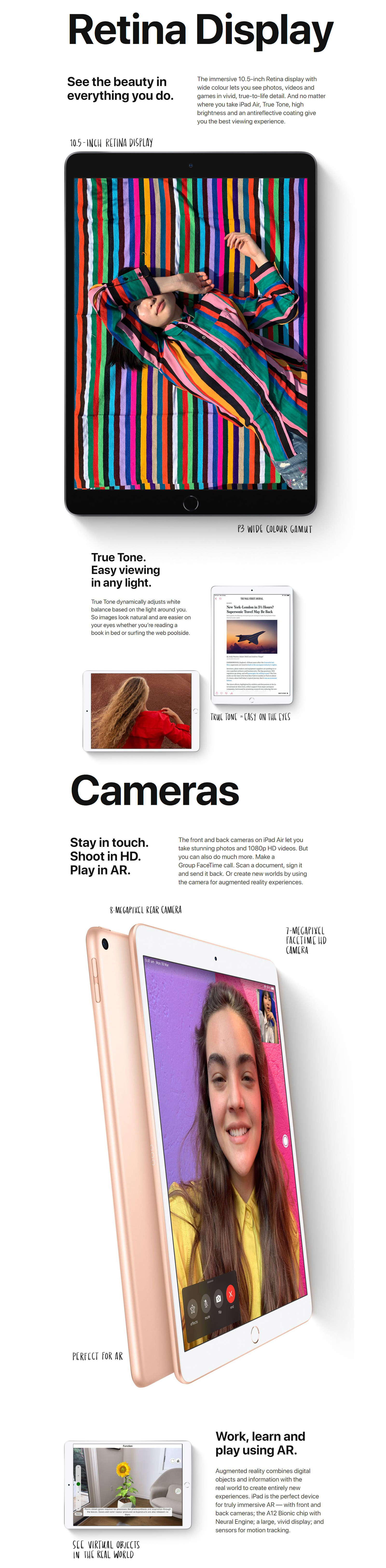 Apple MUUT2X/A 10 5in iPad Air Wi-Fi 256GB Gold
