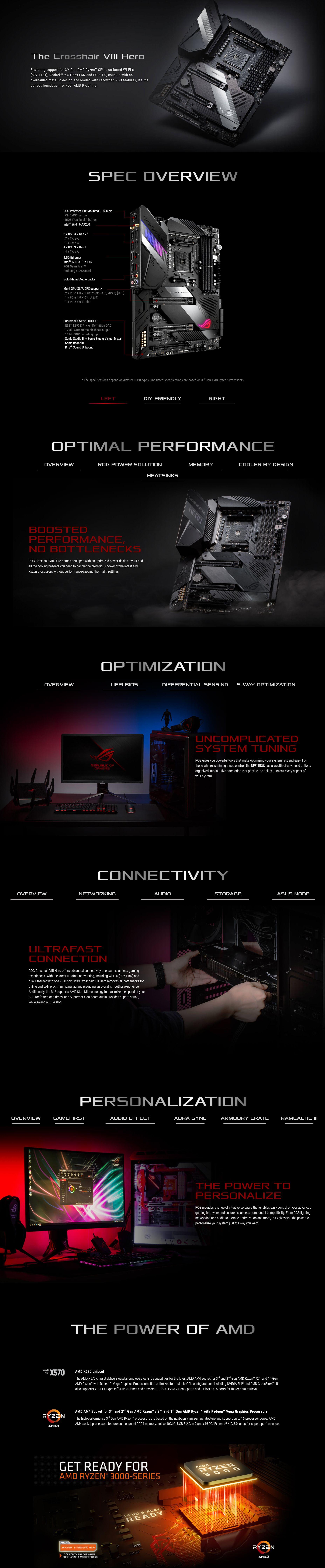 Asus ROG Crosshair VIII Hero WiFi AM4 ATX Motherboard