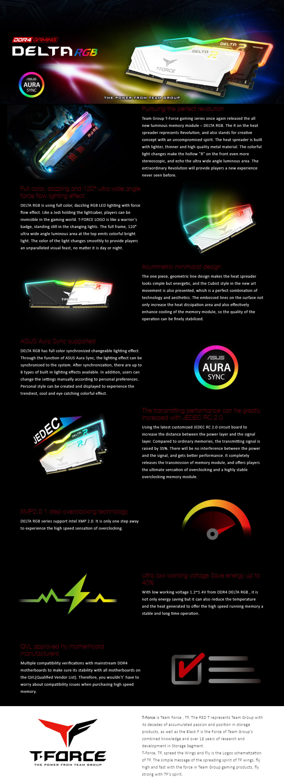 Team Delta RGB TF3D416G3000HC16CDC01 16GB (2x8GB) DDR4 3000MHz Black