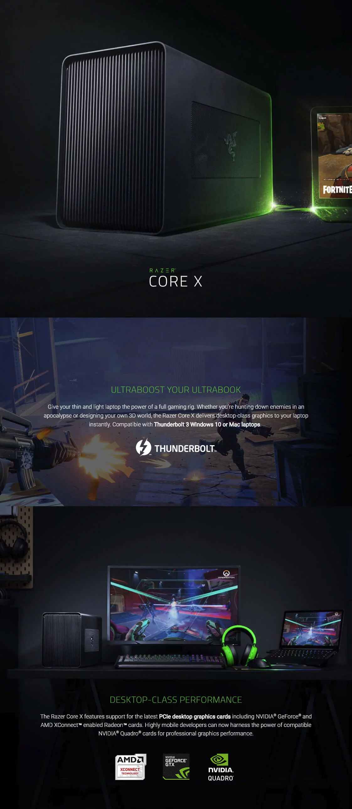 Razer Core X Thunderbolt 3 External Graphics Card Enclosure