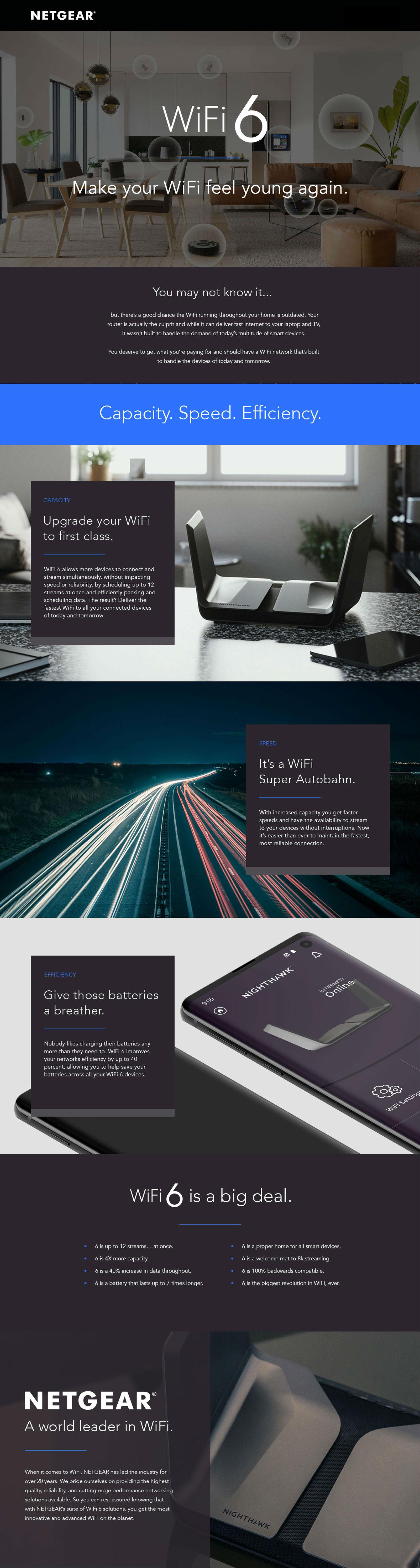 Netgear AX3000 Nighthawk 4 Stream WiFi 6 Router (RAX40)