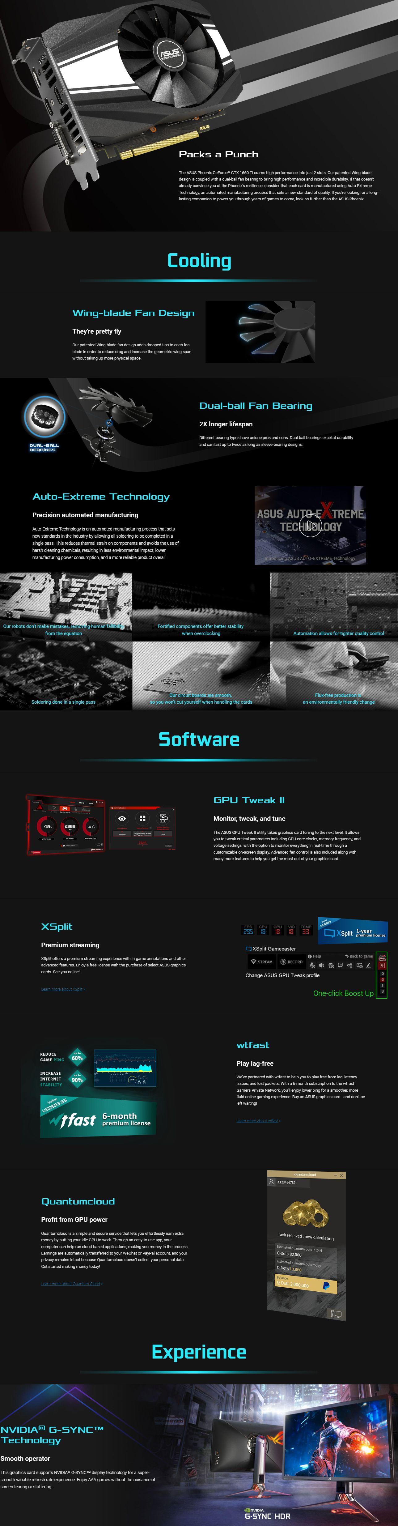 Asus GeForce GTX 1660 Ti Phoenix 6G OC Graphics Card