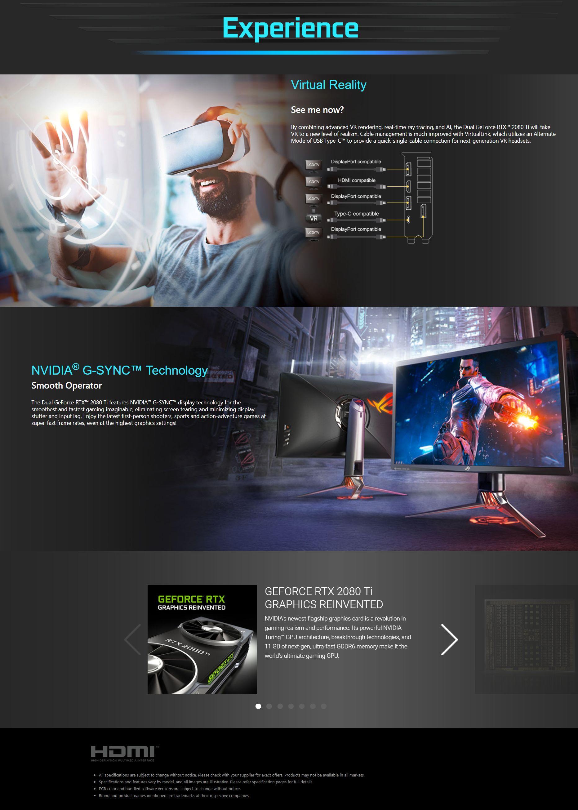 Asus GeForce RTX 2080 Ti Dual 11G OC Graphics Card