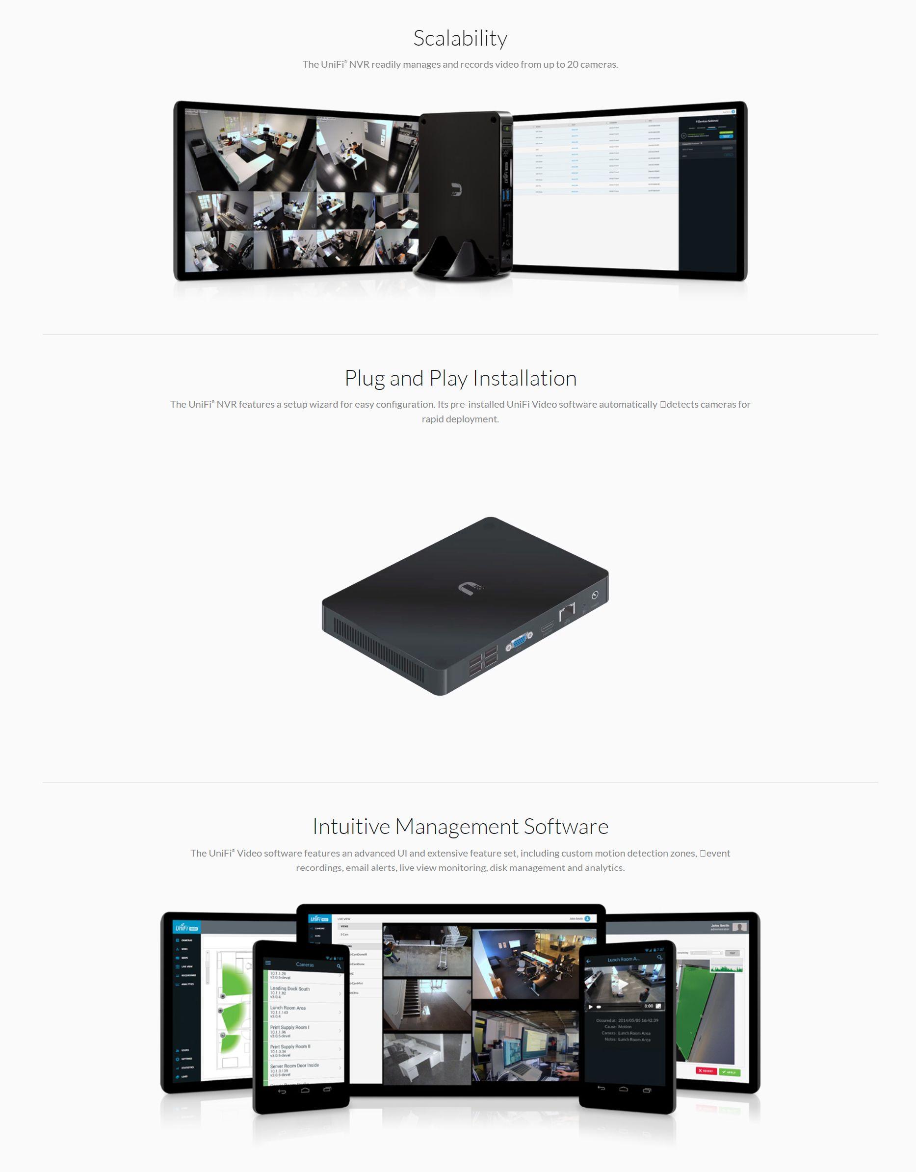 Ubiquiti UniFi NVR 2TB Network Video Recorder