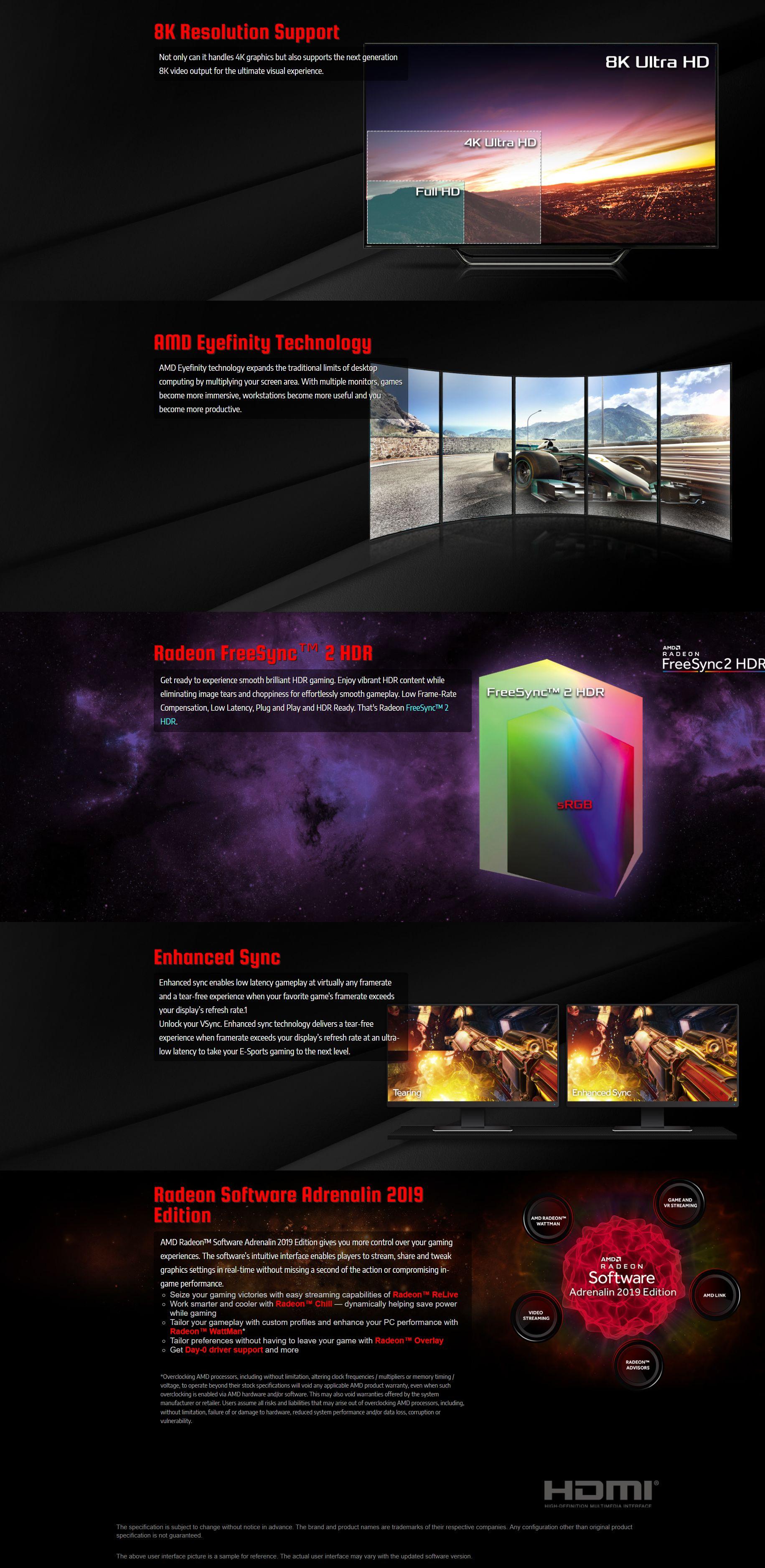ASRock Radeon RX 580 Phantom Gaming X 8G OC Graphics Card