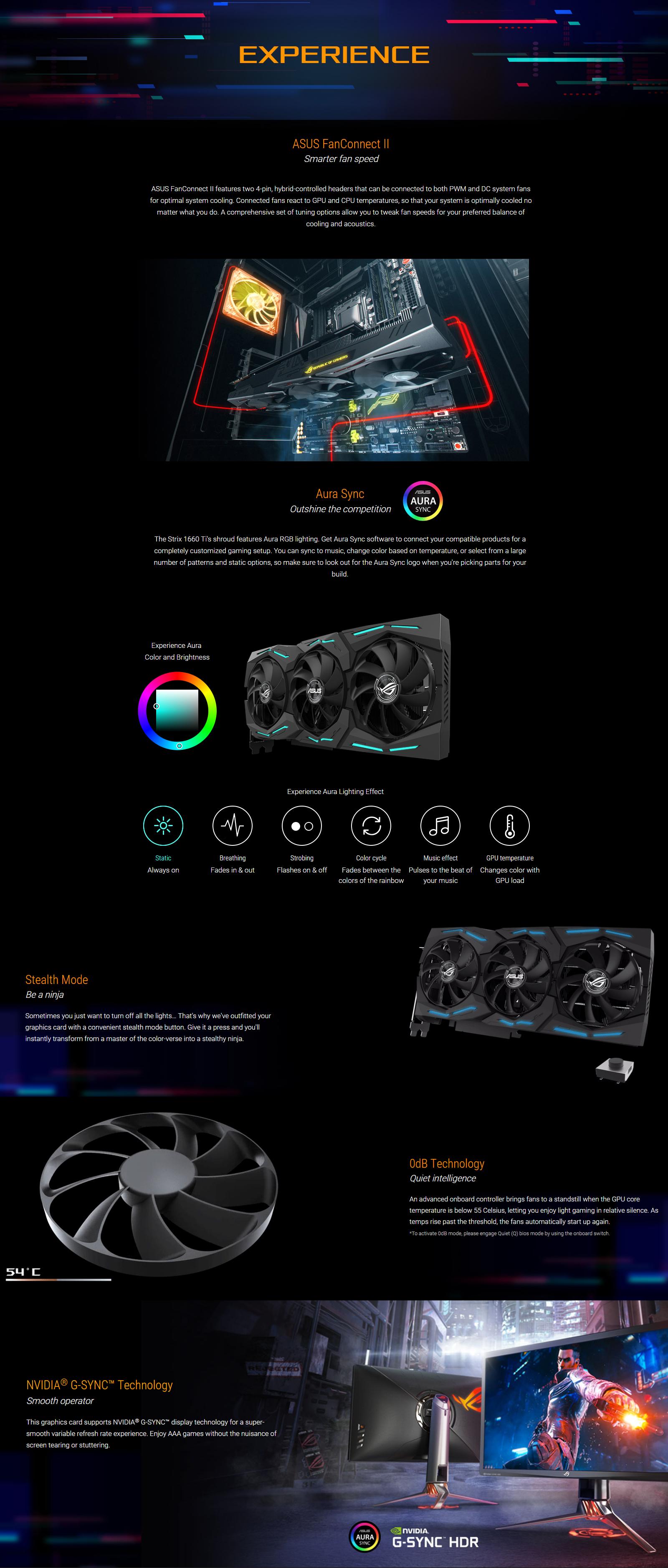 Asus GeForce GTX 1660 Ti ROG Strix Gaming 6G OC Graphics Card