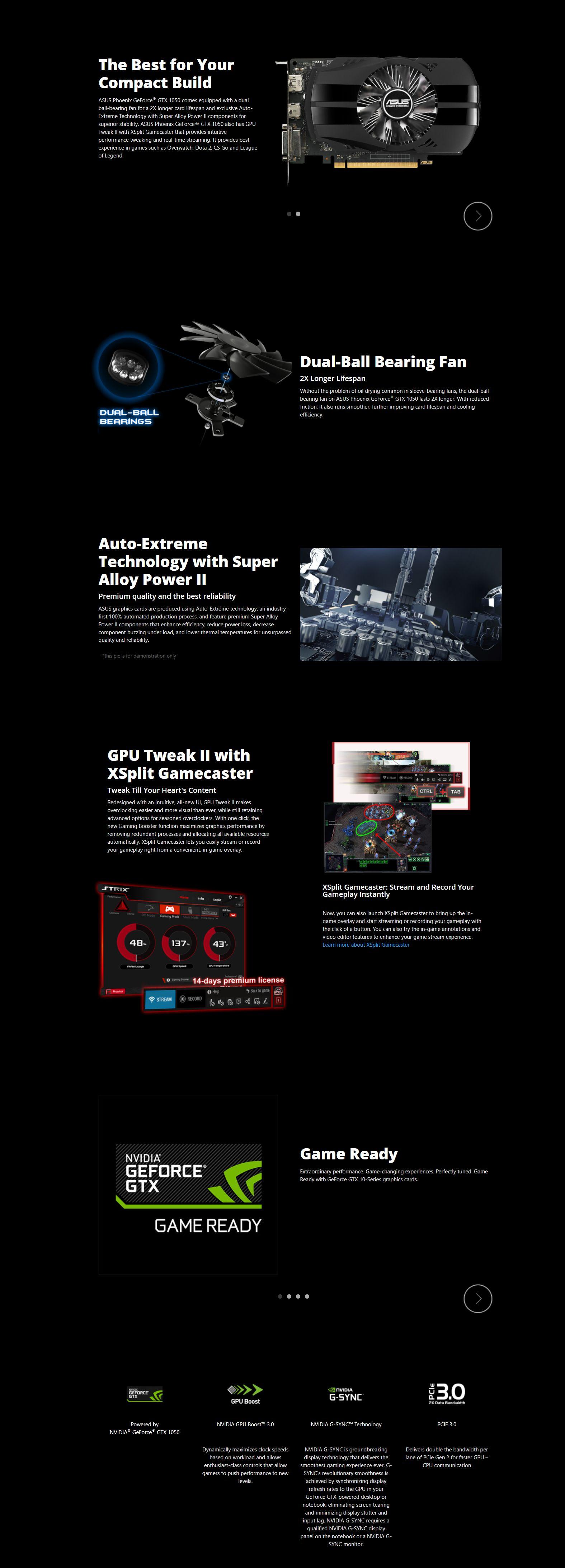 Asus Phoenix GeForce GTX 1050 2GB GDDR5