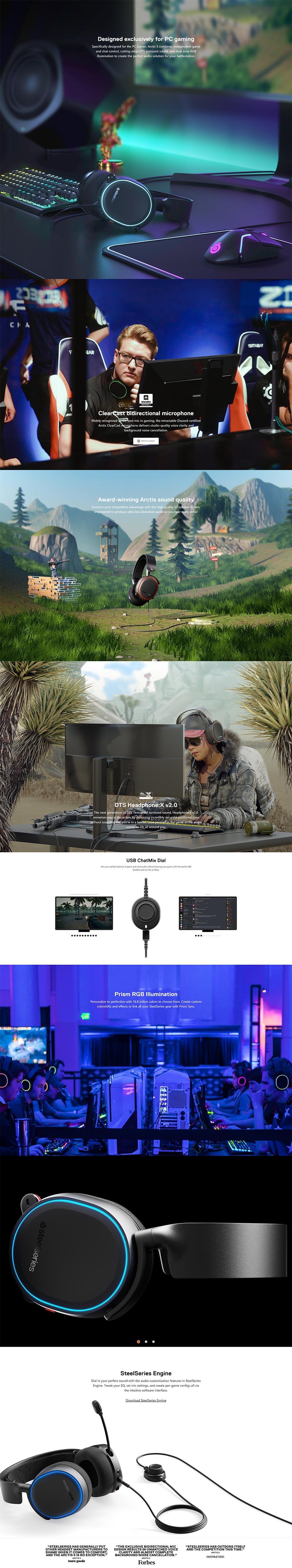 SteelSeries Arctis 5 Gaming Headset (2019) - Black