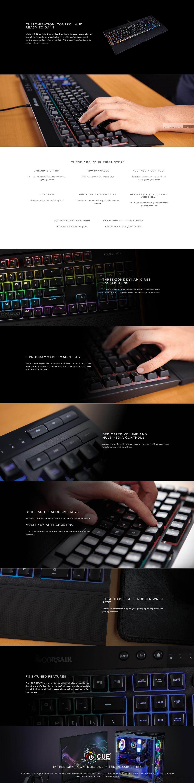 Corsair Gaming K55 RGB LED Membrane Keyboard