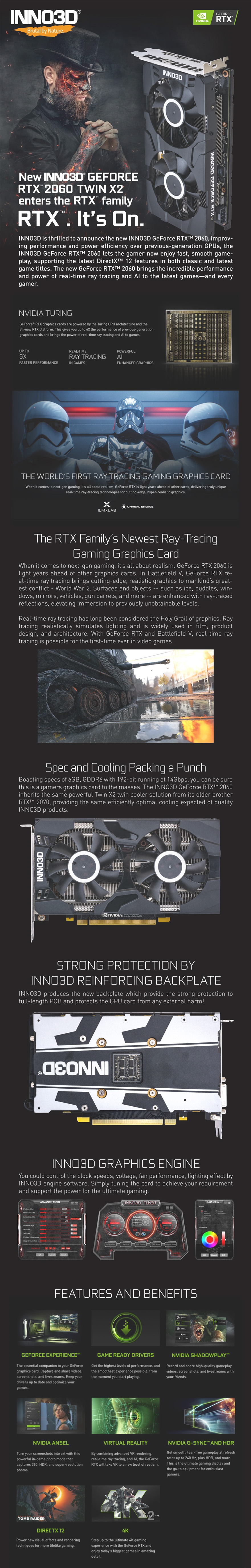 Inno3D GeForce RTX 2060 Twin X2 6G Graphics Card