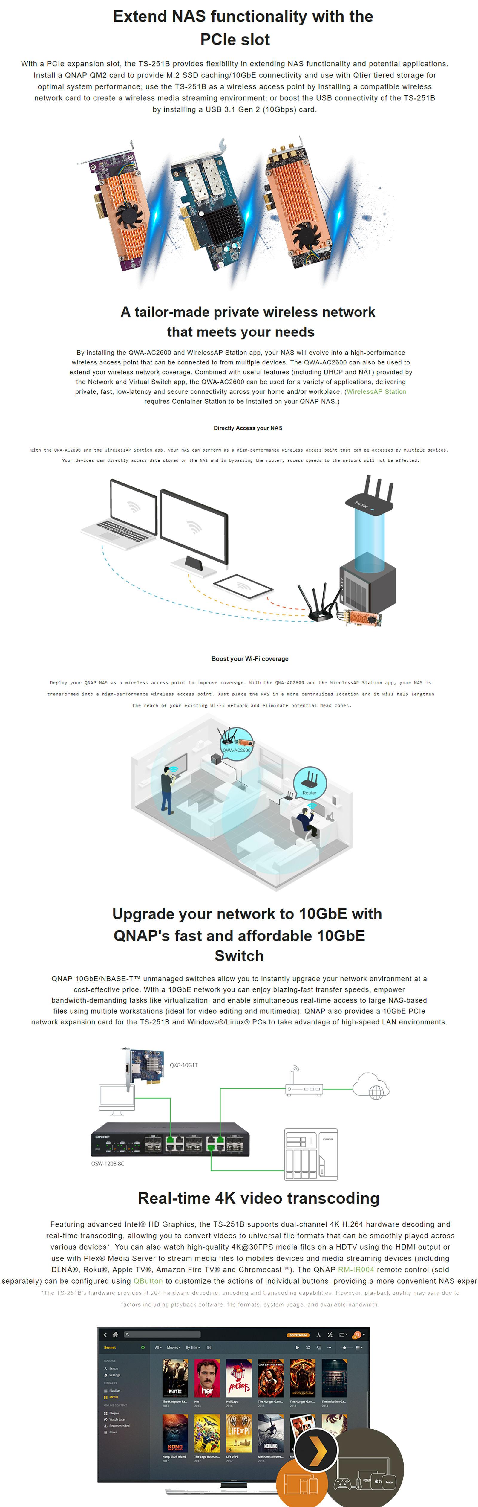 QNAP TS-251B-4G 2-Bay NAS Intel Celeron 4G