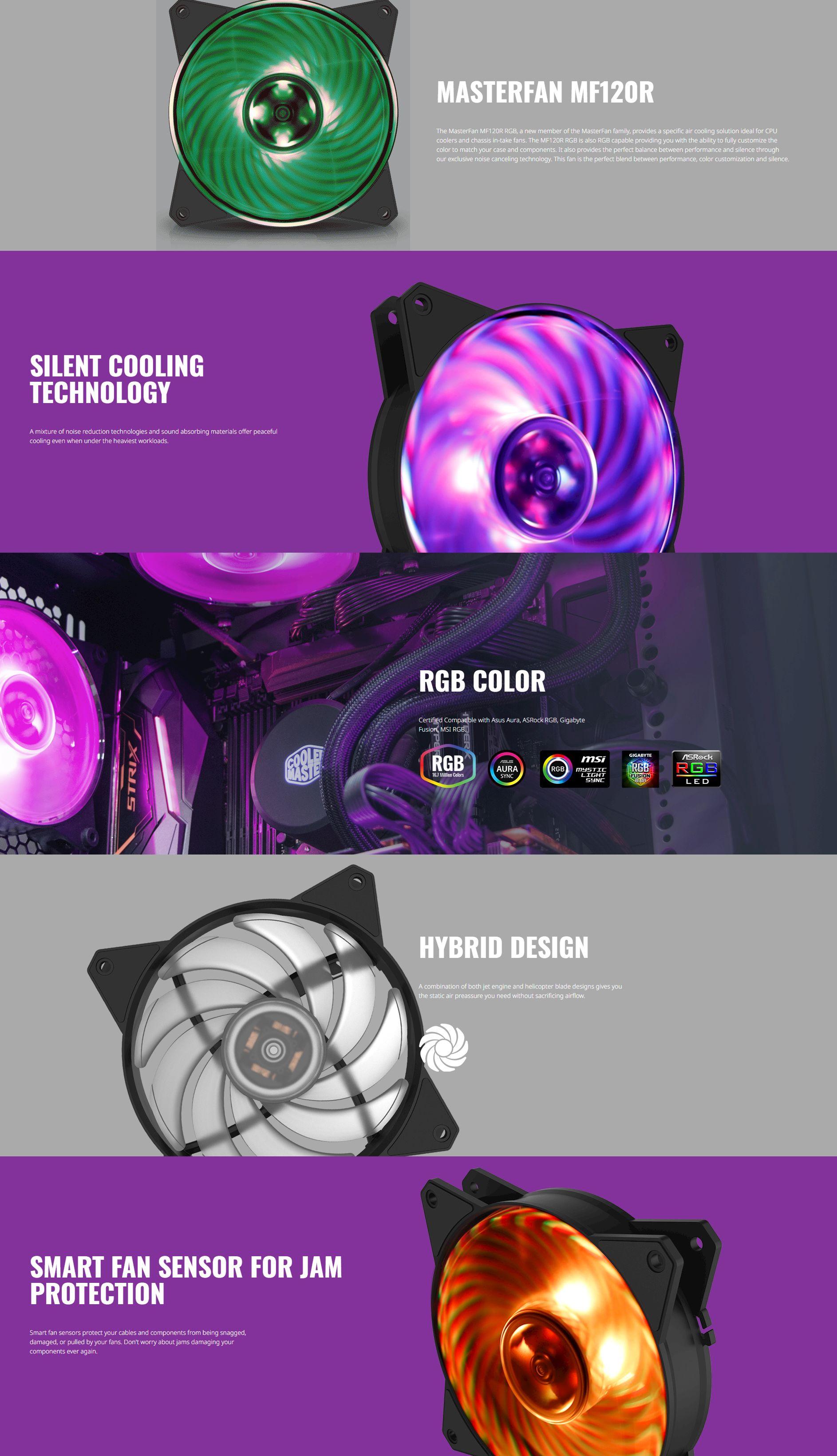 Cooler Master MasterFan MF120R 120mm RGB Fan